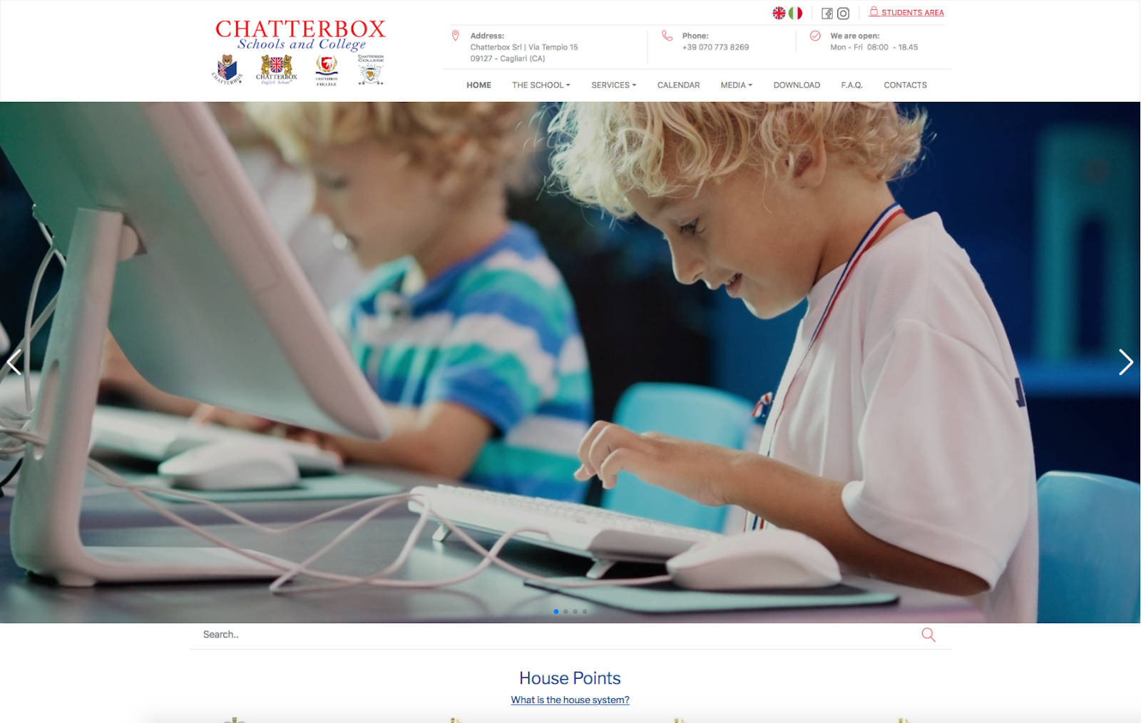 chatterbox schools and college homepage